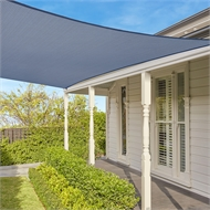 Coolaroo 3.0 x 3.0m Square Shade Sail - Graphite