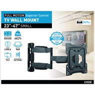 Crest Small Full Motion TV Wall Mount With Superior Control