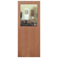 Hume Doors & Timber 2040 x 870 x 35mm Sliced Pacific Maple G1 XF3 Glass Opening Entrance Door