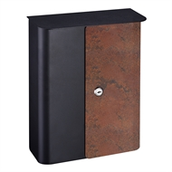 Sandleford Black Rust Sylvan Wall Mount Letterbox