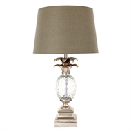 Cafe Lighting Antique Silver Langley Table Lamp