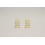 Windoware Ivory Acorn Decorative Curtain Rod End - 2 Pack