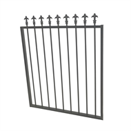 Protector Aluminium 975 x 1200mm J Spear Top Garden Gate - To Suit Gudgeon Hinges - Monument