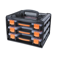 Tactix 3 Piece Storage Box Organiser