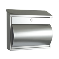 Sandleford 355 x 305 x 105mm Brushed Stainless Steel Comet Letterbox With Paper Holder