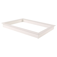 Builders Edge 600 x 600mm White Manhole Frame Kit