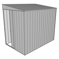 Build-a-Shed 1.5 x 2.3 x 2m Sliding Door Tunnel Shed - Zinc