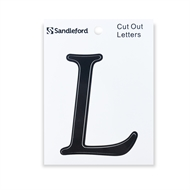 Sandleford 80mm Black Goudy Cut Out Self Adhesive Letter L
