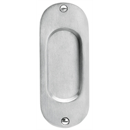 Delf Architectural 125 x 50mm Polished Chrome Round Edge Flush Pull