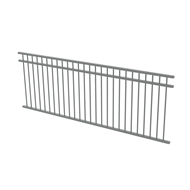 Protector Aluminium 2450 x 900mm Double Top Rail All Up Fence Panel - Woodland Grey