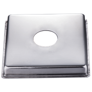 Kinetic 15mm BSP Stainless Steel Square Cover Plate With 10mm Rise