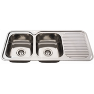 Everhard 1180mm NuGleam  Double Bowl Left Hand Kitchen Sink
