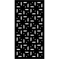 Protector Aluminium 900 x 1200mm ACP Profile 29 Decorative Unframed Panel - Gloss Black