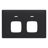 HPM LINEA Double Autoswitch Powerpoint Coverplate - Midnight Dash