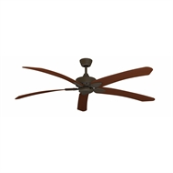 Crestwind 70'' Bronze Overall Blade Windpoint Ceiling Fan - Cherry
