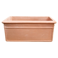 Northcote Pottery 250 x 600mm Terracotta CottaSEAL Courtyard Trough