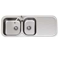 Clark 1230mm Advance 1.75 End Bowl Sink With No Tap Hole