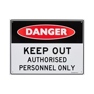 Sandleford 300 x 225mm Keep Out Authorised Personnel Plastic Sign