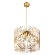 Home Design Vogue Pendant Light Gold