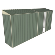 Build-a-Shed 0.8 x 4.5 x 2m Skillion Single Sliding Side Door Shed - Green