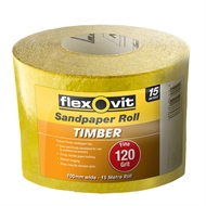 Flexovit 100mm x 15m 120 Grit Timber Sandpaper Roll
