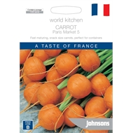 Johnsons World Kitchen Carrot Paris Market 5 Seeds