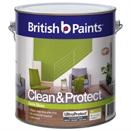 British Paints Clean & Protect 4L Semi Gloss Mid Interior Paint