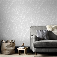 Superfresco Easy 52cm x 10m Grey Innocence Wallpaper