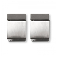Handy Shelf Satin Nickel Cube Shelf Clip - 2 Pack