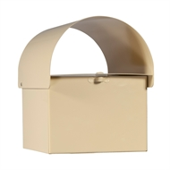 Sandleford Cream Dune Post Mounted Letterbox