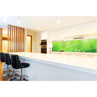 Bellessi 650 x 600 x 6mm Motiv Textured Glass Splashback - Green Horizon