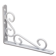 Carinya 200 x 150 x 6.3mm White Heavy Duty Scroll Bracket
