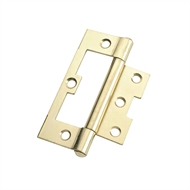 Zenith 100mm Brass Plated Fixed Pin Easy Fit Hinge - 2 Pack