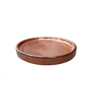 Northcote Pottery Copper Round Primo Saucer - 250mm