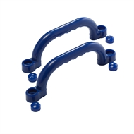 Swing Slide Climb Blue Plastic Grip Handles - 2 Pack