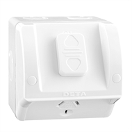 DETA Rhodium Single Outdoor Plated Power Point Outlet