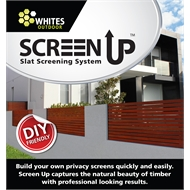 Whites Outdoor 16mm Slat 1.1m Side Fix Screen Up