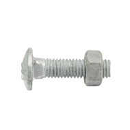 Zenith M6 x 25mm Hot Dipped Galvanised Cup Head Bolt And Nut