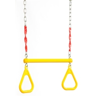 Swing Slide Climb Yellow Plastic / Steel Trapeze with Rings