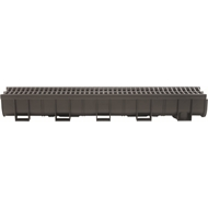 Everhard EasyDRAIN 100mm x 1m Black Polymer Channel and Grate
