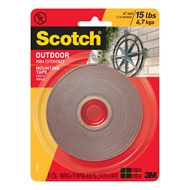 Scotch 2.5cm x 4.4m Outdoor Double Sided Mounting Tape