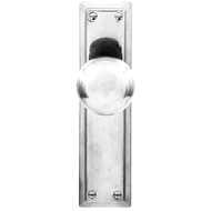 Delf Architectural Polished Chrome Victorian Knob Latch With Plate
