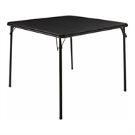 Marquee Black Folding Card Table