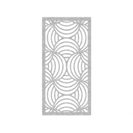 Protector Aluminium 1200 x 2400mm Profile 10 Decorative Panel Unframed - Silver Sparkle