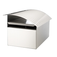 Sandleford Stainless Steel Post Mount Ripple Letterbox