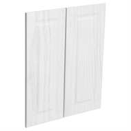 Kaboodle Provincial White Heritage Corner Wall Cabinet Door - 2 Pack