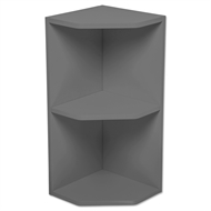 Kaboodle Smoked Grey Open End Wall Cabinet