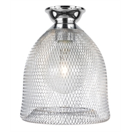 Brilliant Chrome Eli Metal Mesh Batten Fix Light