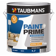 Taubmans 4L White 1 Paint+Prime Interior Low Sheen Paint
