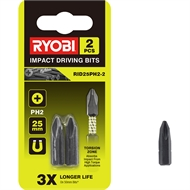 Ryobi 25mm PH2 Impact Driving Bits - 2 Pack